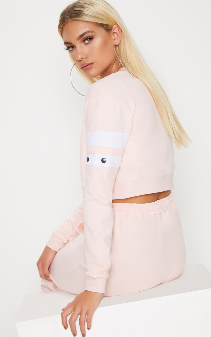 Light Pink Zip Up Crop Jacket 2