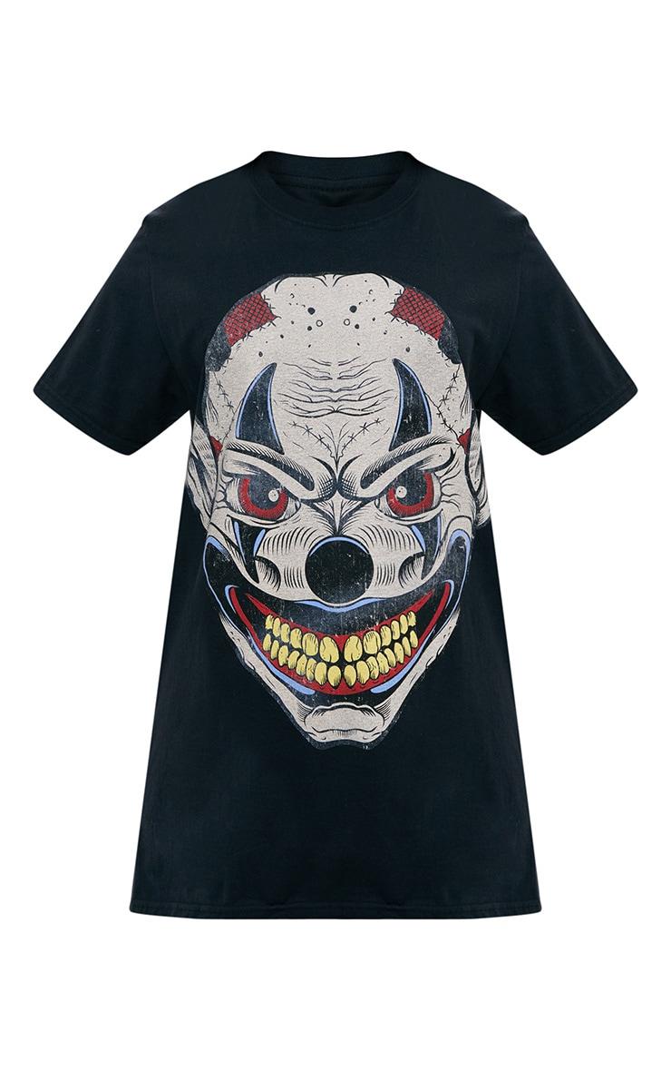 Black Ugly Clown Print T Shirt 3