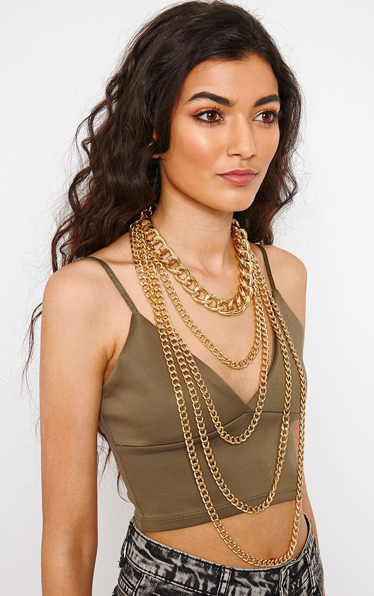 Adrina Gold Layered Chain Necklace 2