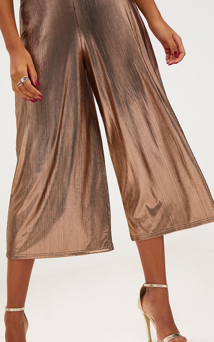 Copper Metallic Culottes 5