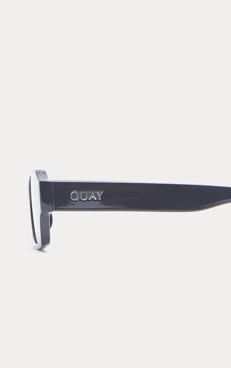 QUAY AUSTRALIA Black Strange Love Rectangle Sunglasses 3