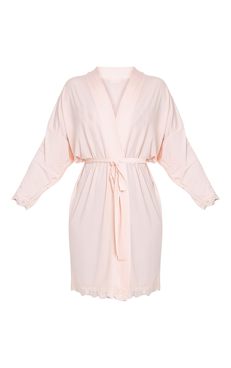 The Bride's Squad Nude Slinky Dressing Gown 3