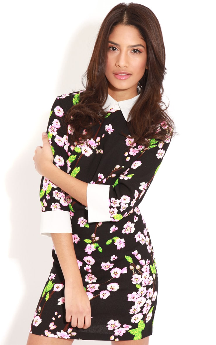 Alanah Orchid Print Collar Dress 1