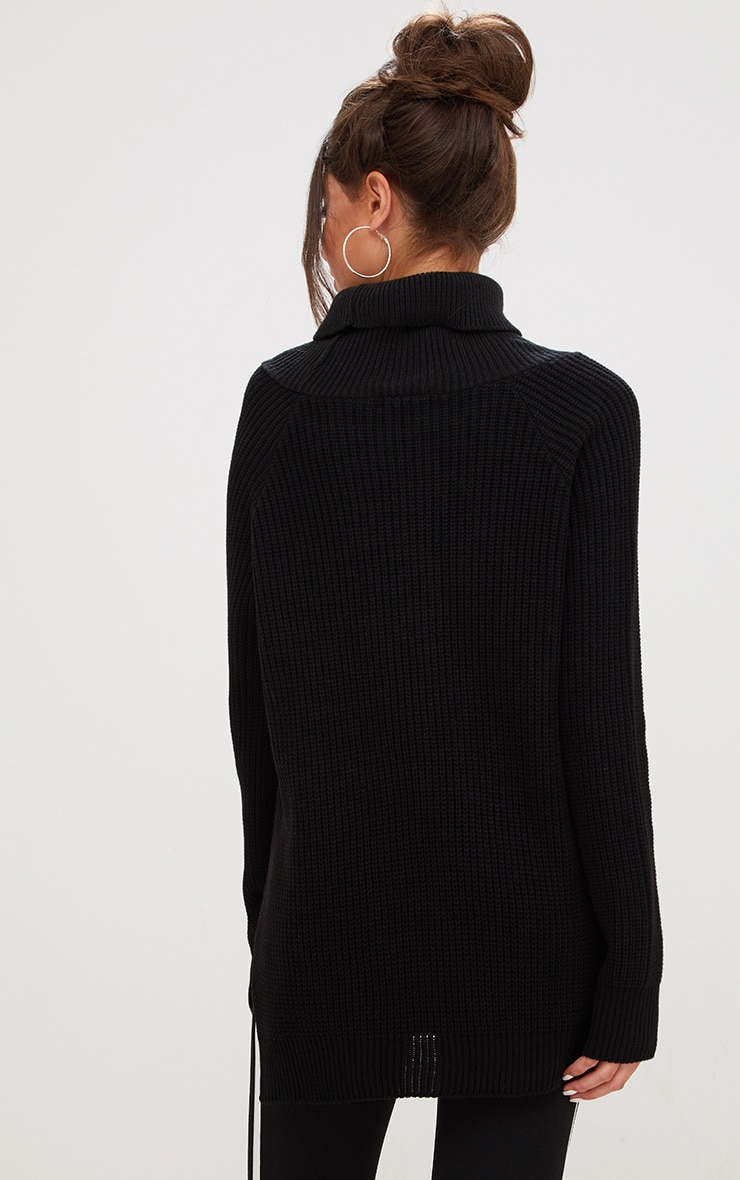 Black High Neck Jumper 2