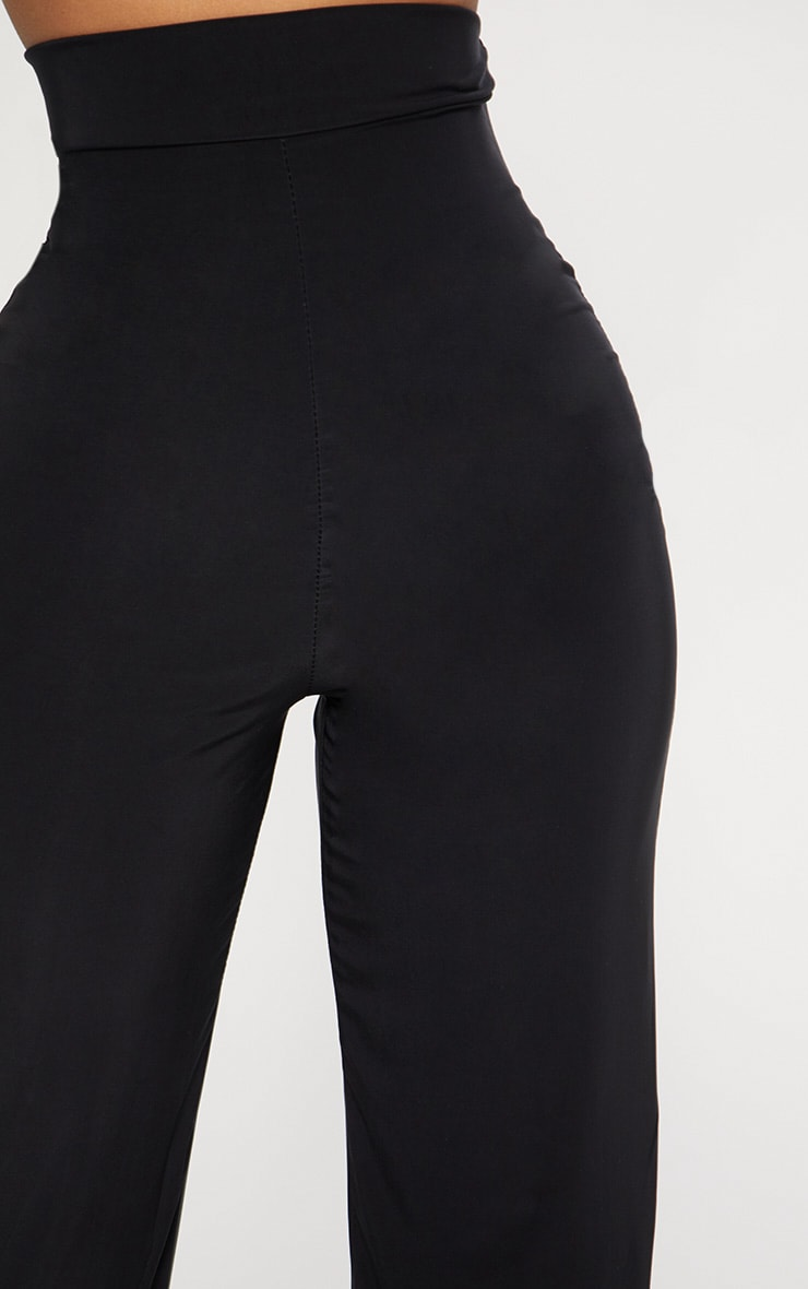 Shape Black High Waist Slinky Wide Leg Pants 5