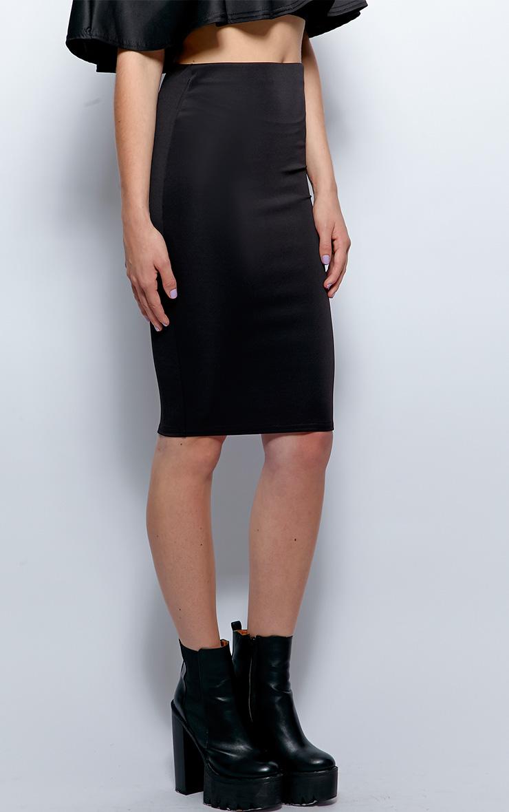 Sydney Black Midi Skirt 4