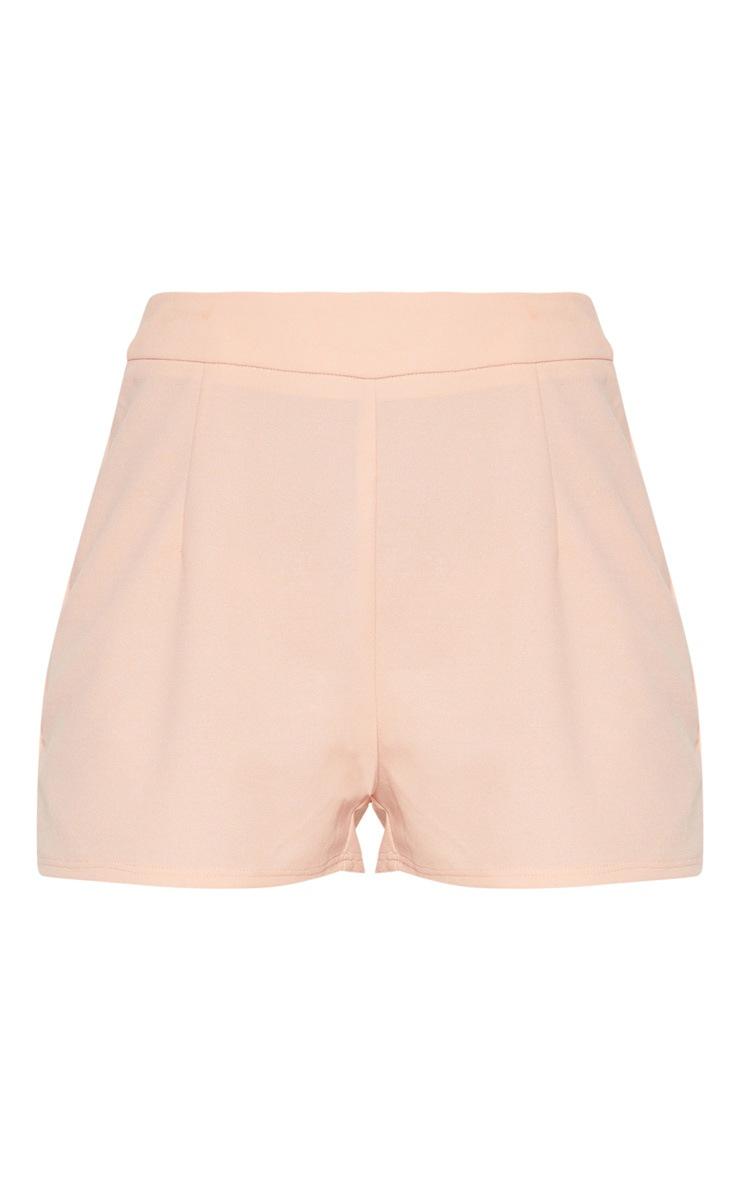 Petite Nude High Waist Shorts 3
