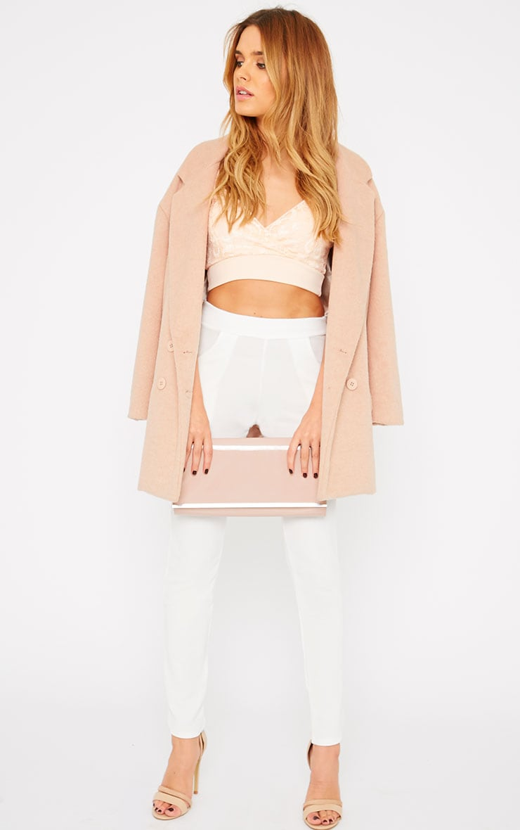 Mia Nude Lace Wrap Front Bralet  3
