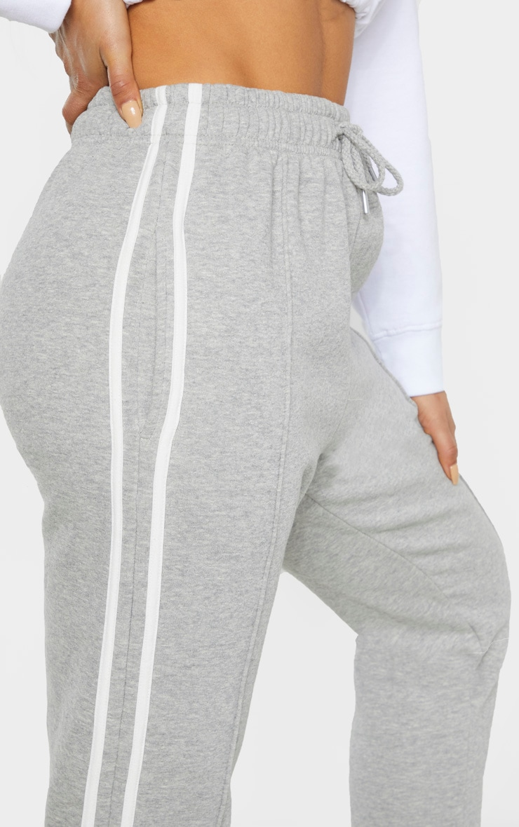 Tall Grey Double Side Stripe Jogger  5