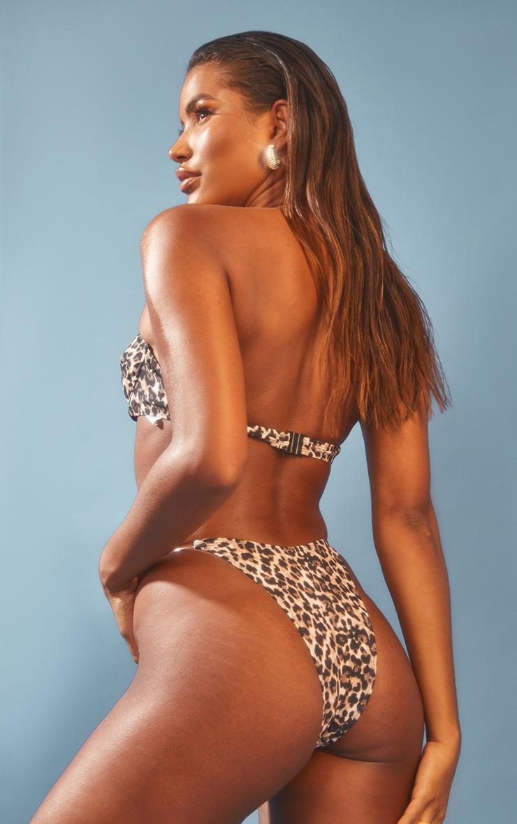 Leopard Clear Strap Underwired Bikini Top 2