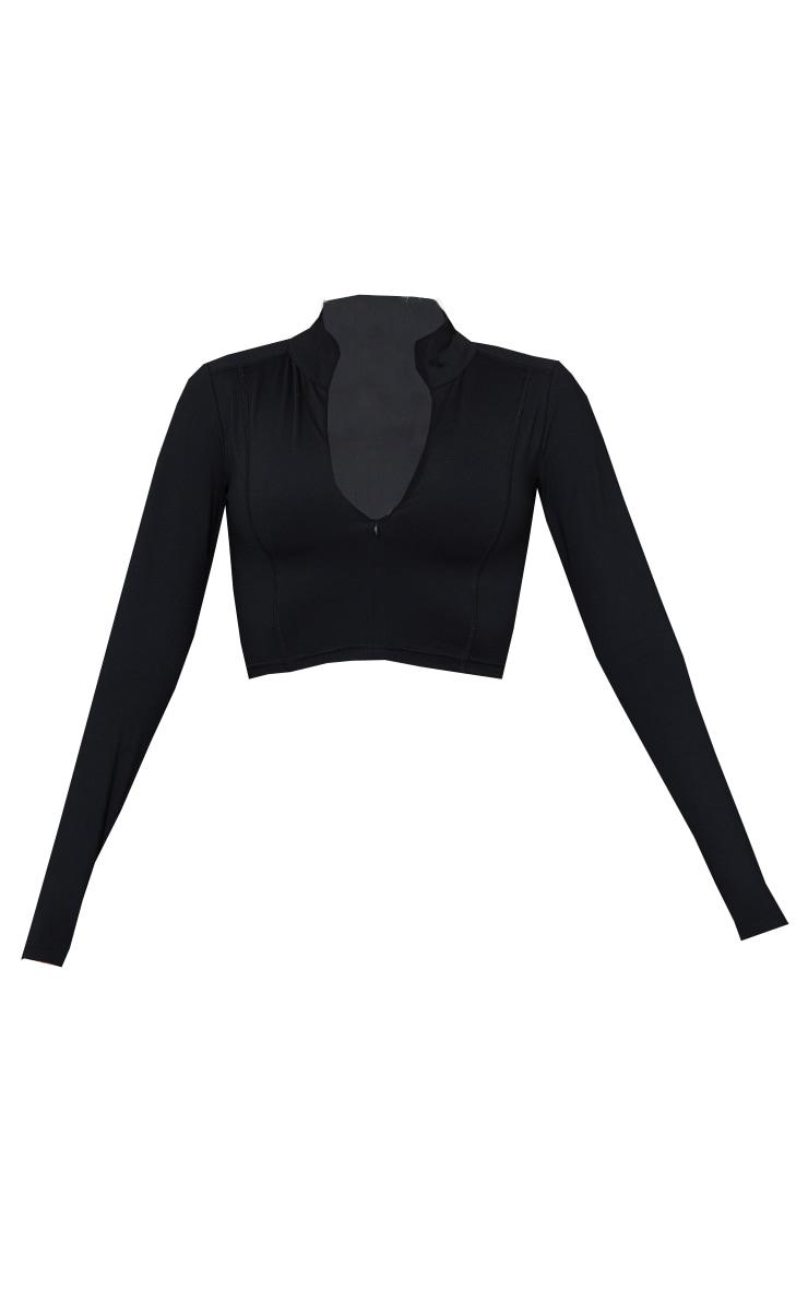 Black Zip Up Sculpt Luxe Jacket 5