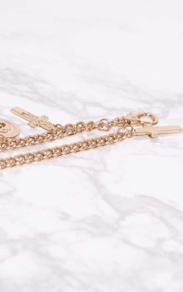Gold Te Amo Heart Locket Pendant Bracelet 4