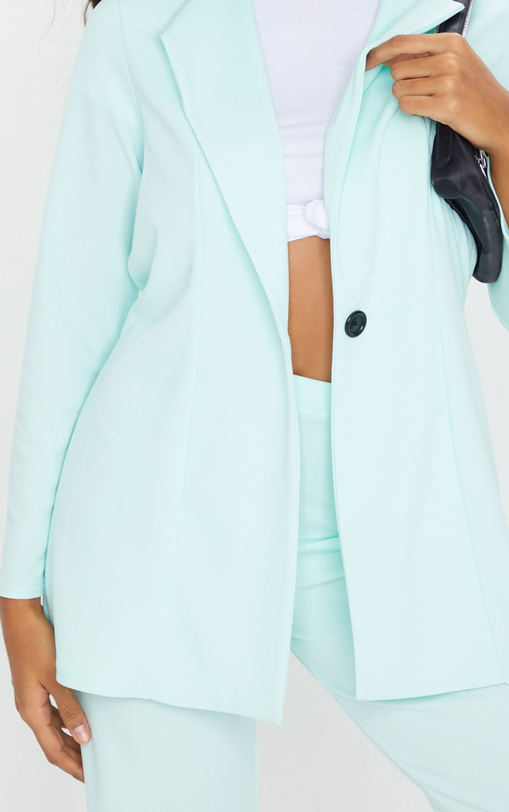 Mint Green Oversized Boyfriend Blazer 4
