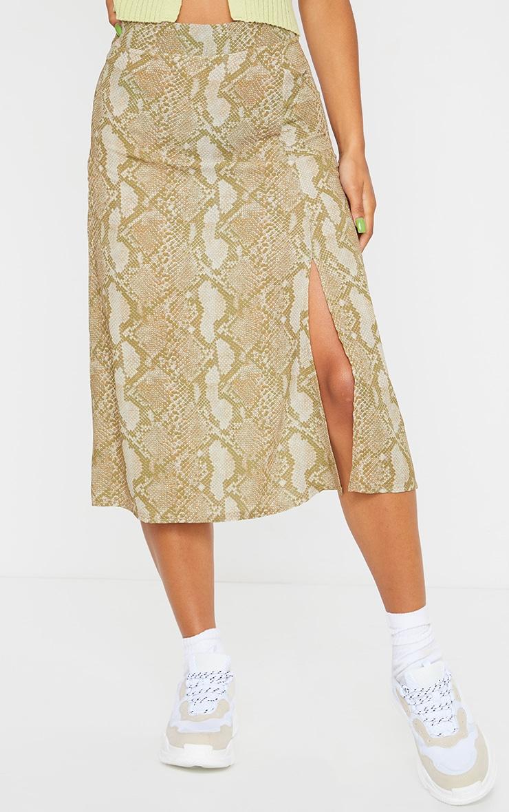 Stone Snake Floaty Midi Skirt 2
