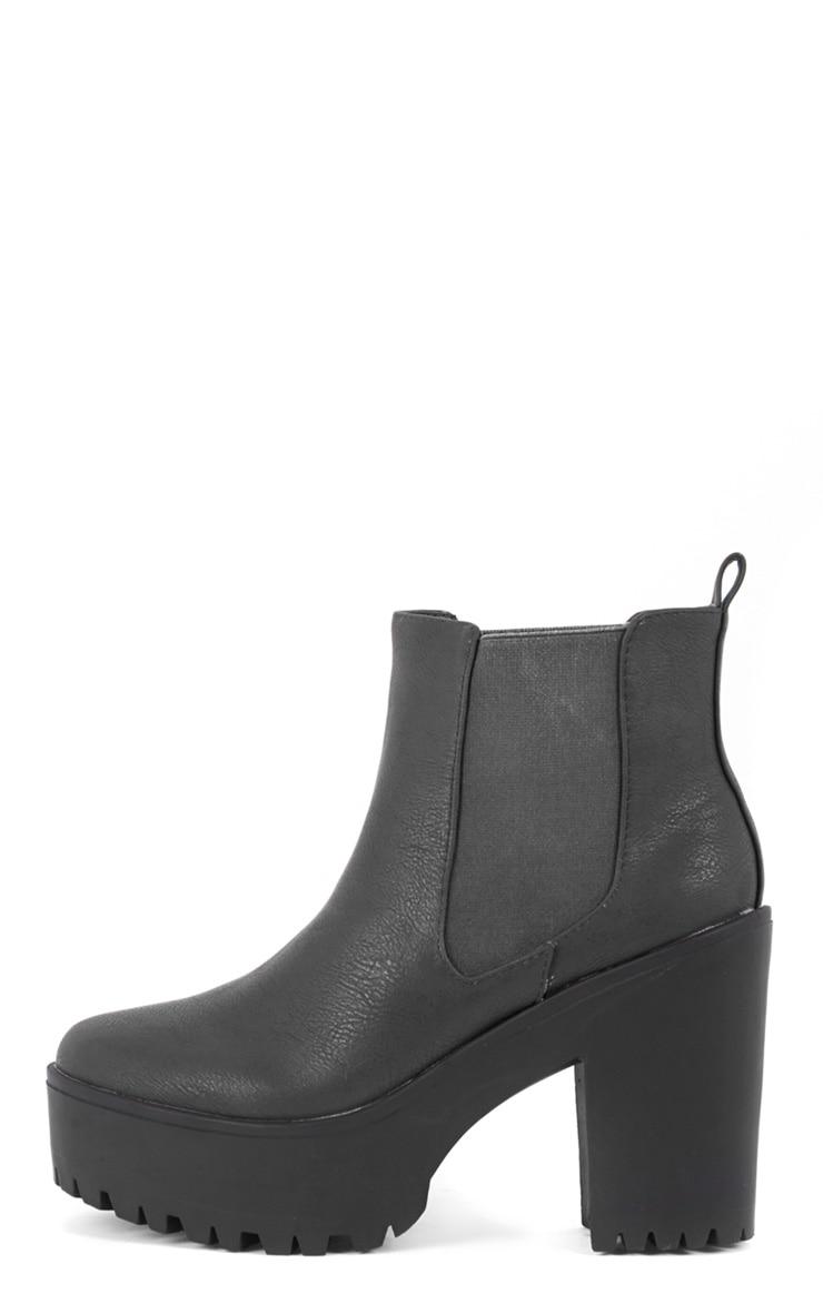 Jaida Black Chunky Chelsea Boot 1