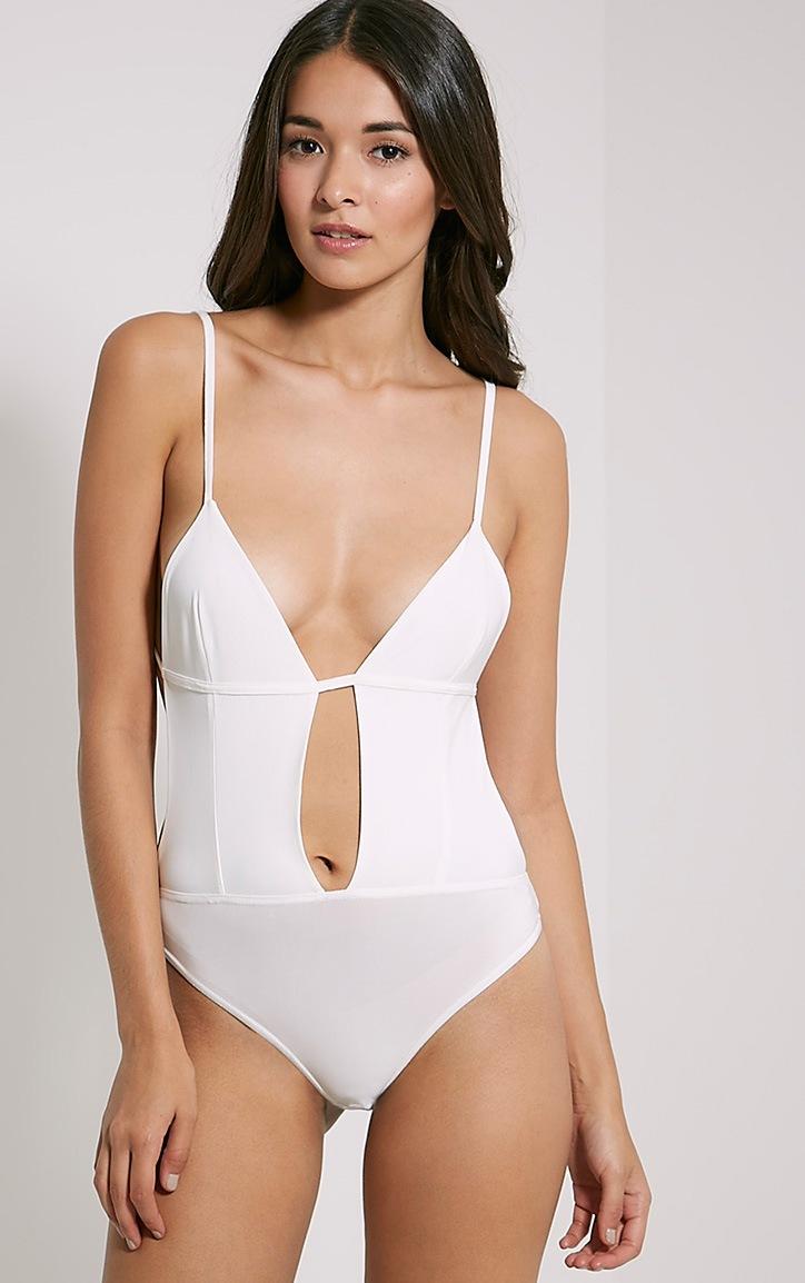 Emily Cream Plunge Bodysuit 4