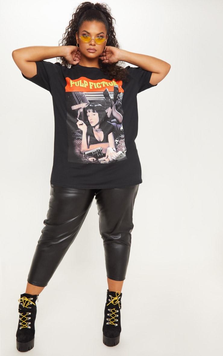 Plus Black Pulp Fiction Slogan T-shirt 4