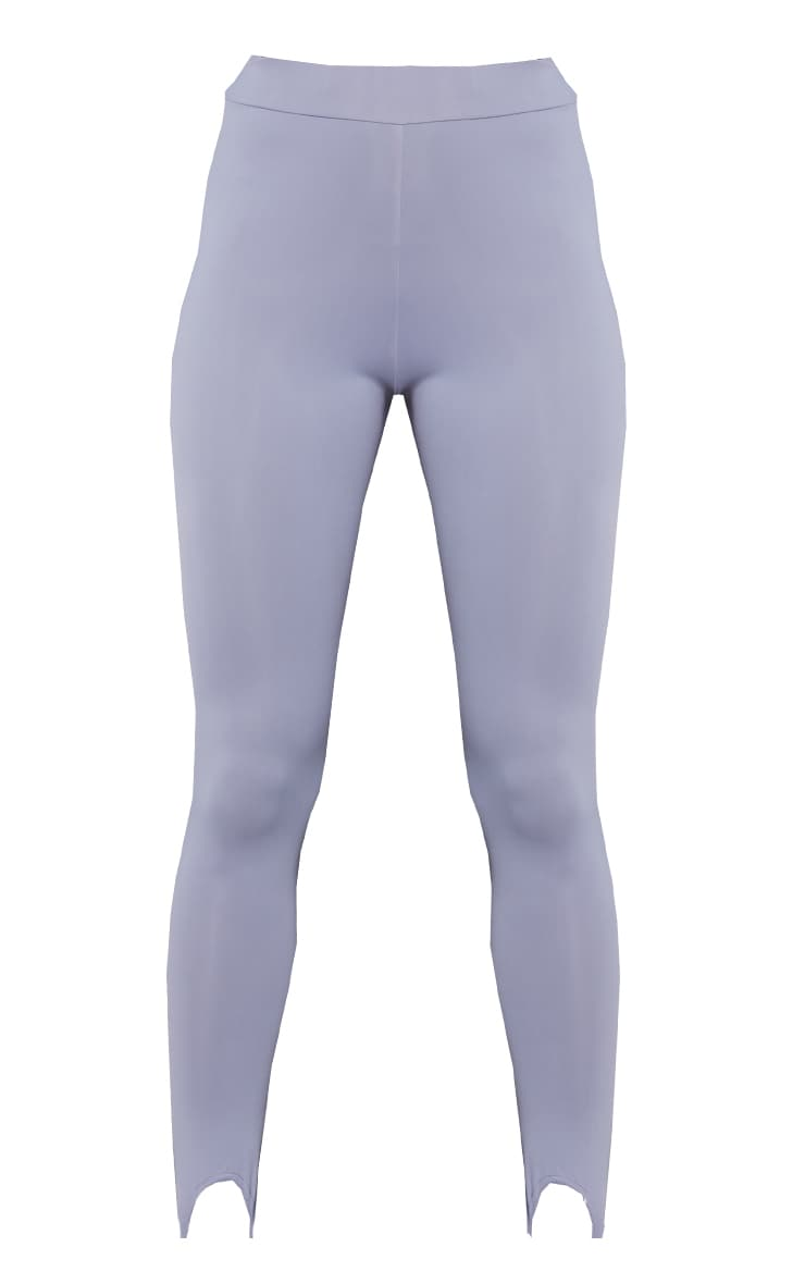 Dark Grey Stirrup Gym Leggings 5