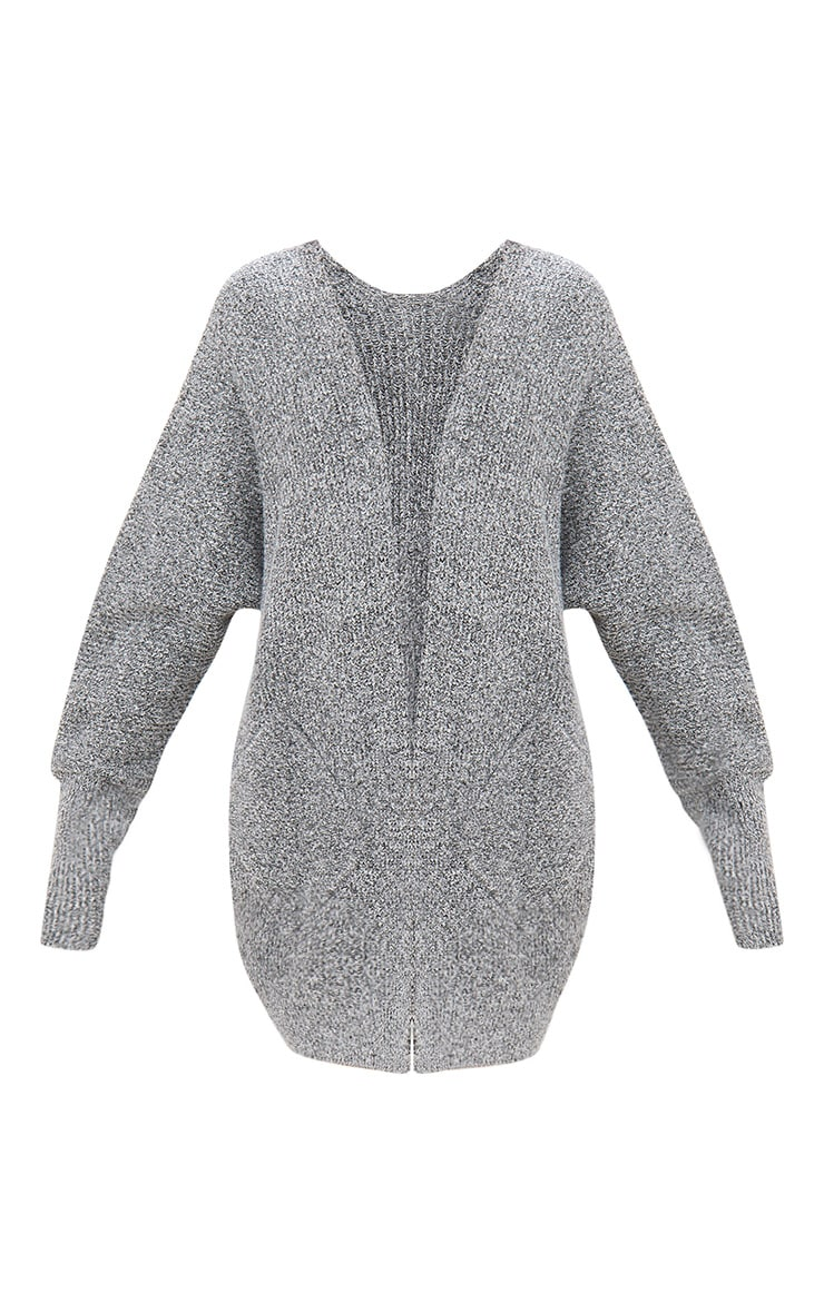 Grey Oversized Cardigan  2