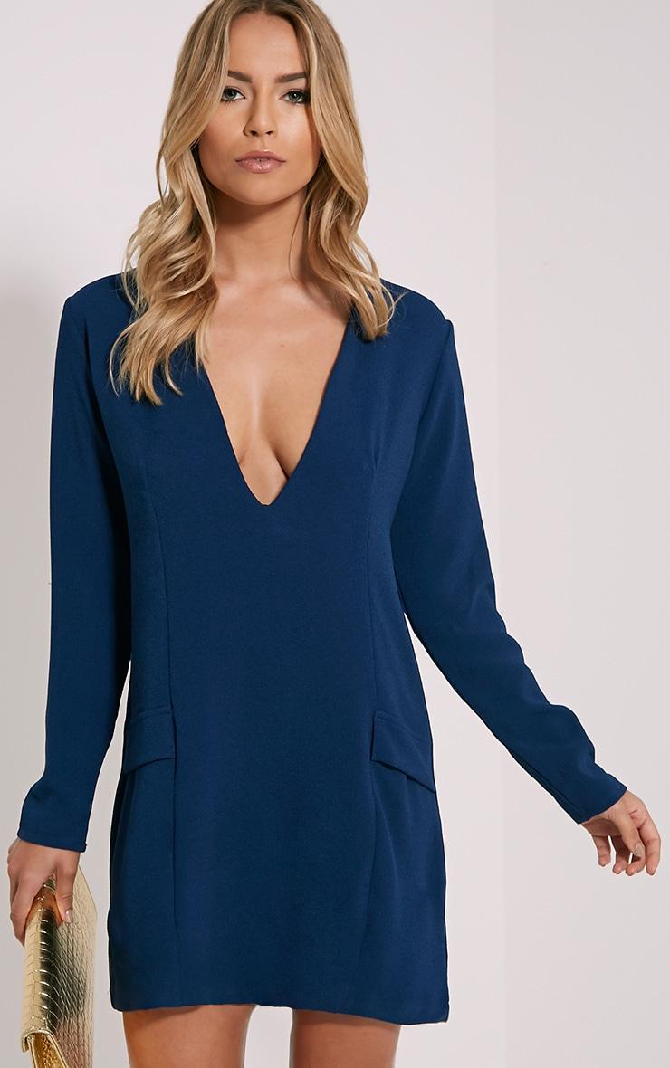 Jemima Navy Loose Fit Blazer Dress 1