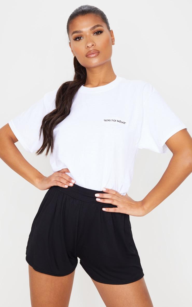 Black Jersey Floaty Shorts 1