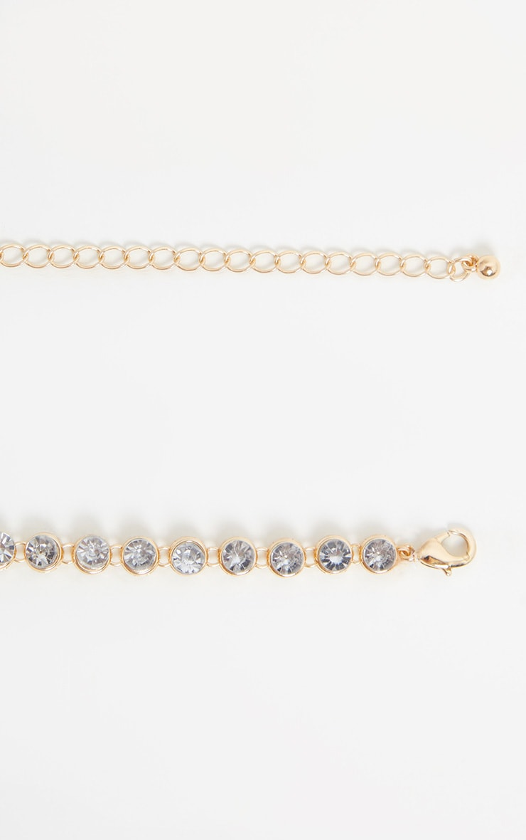 Gold Crystal Gemstone Choker 3