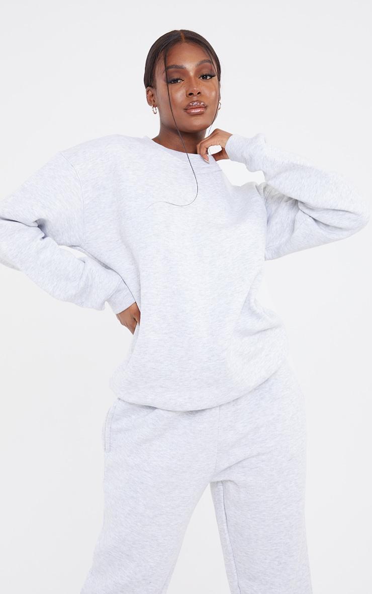 Tall Grey Marl Ultimate Oversized Sweatshirt 1