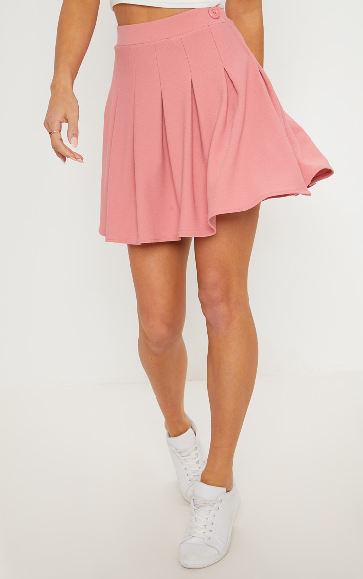 Blush Pleated Tennis Skirt 2