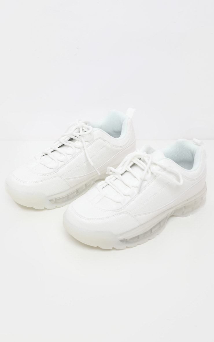 White Bubble Sole Trainer 3
