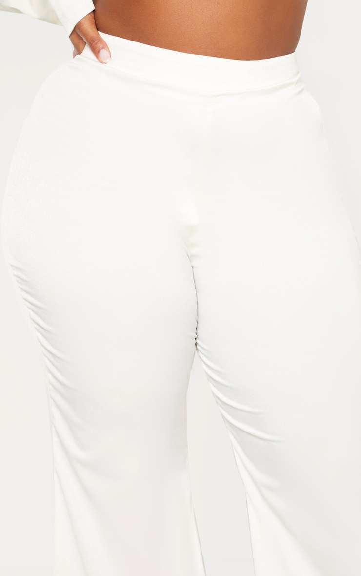 Plus Cream Tailored Extreme Flared Trouser 5