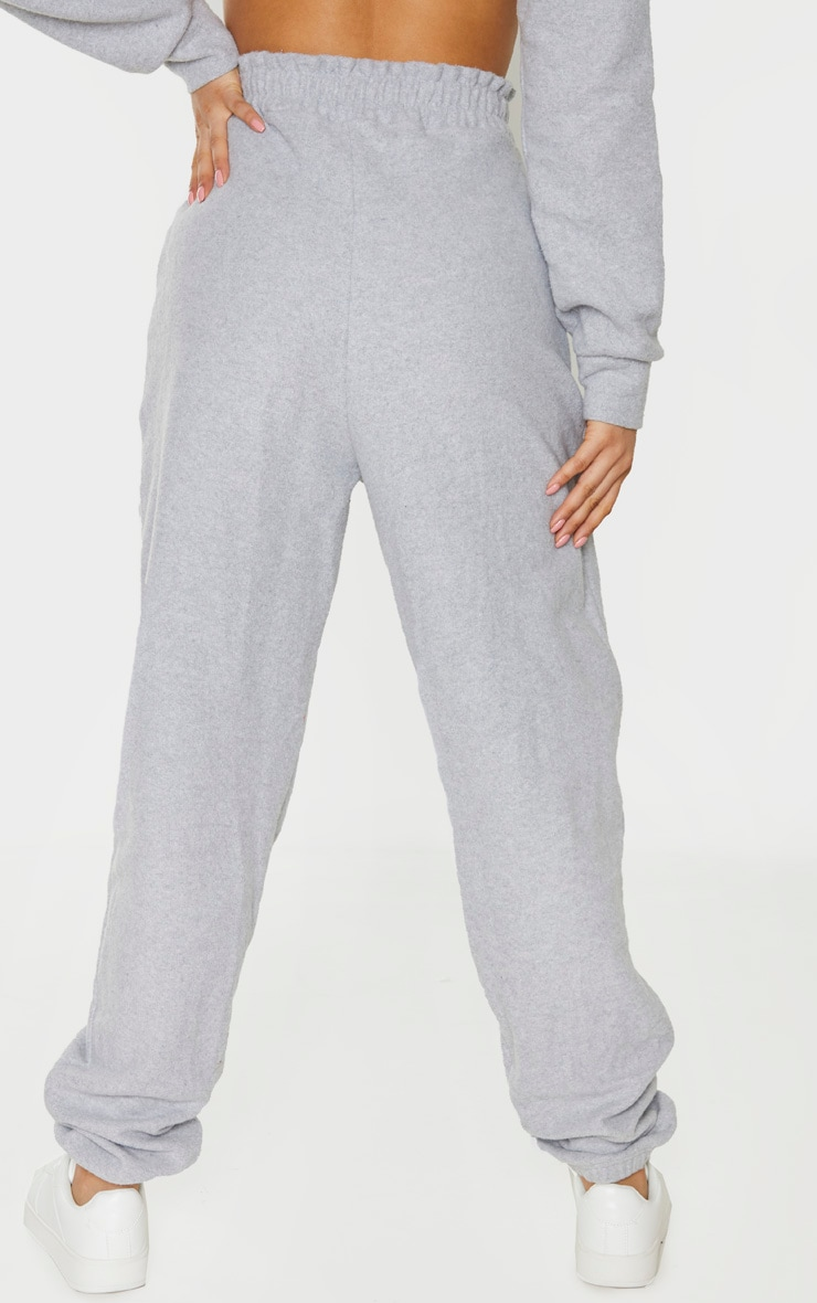 Tall Grey Brushed Sweat Oversized Joggers 4