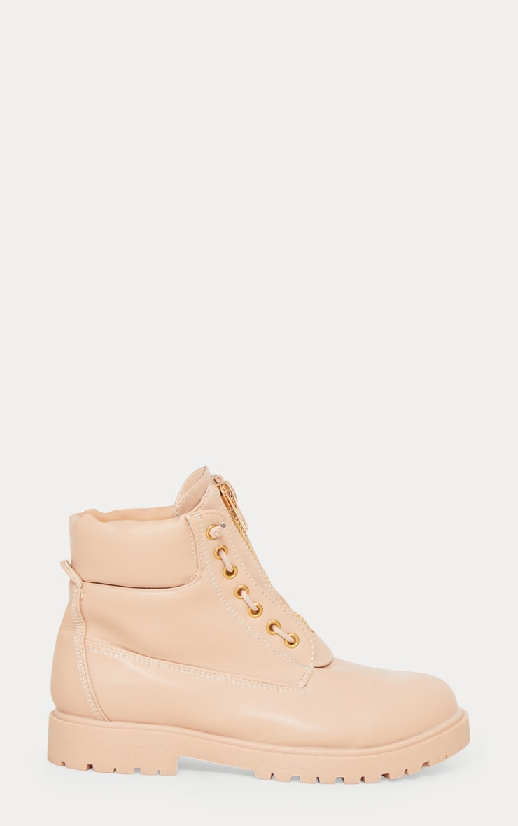 Michella Nude Zip Up Boots 4