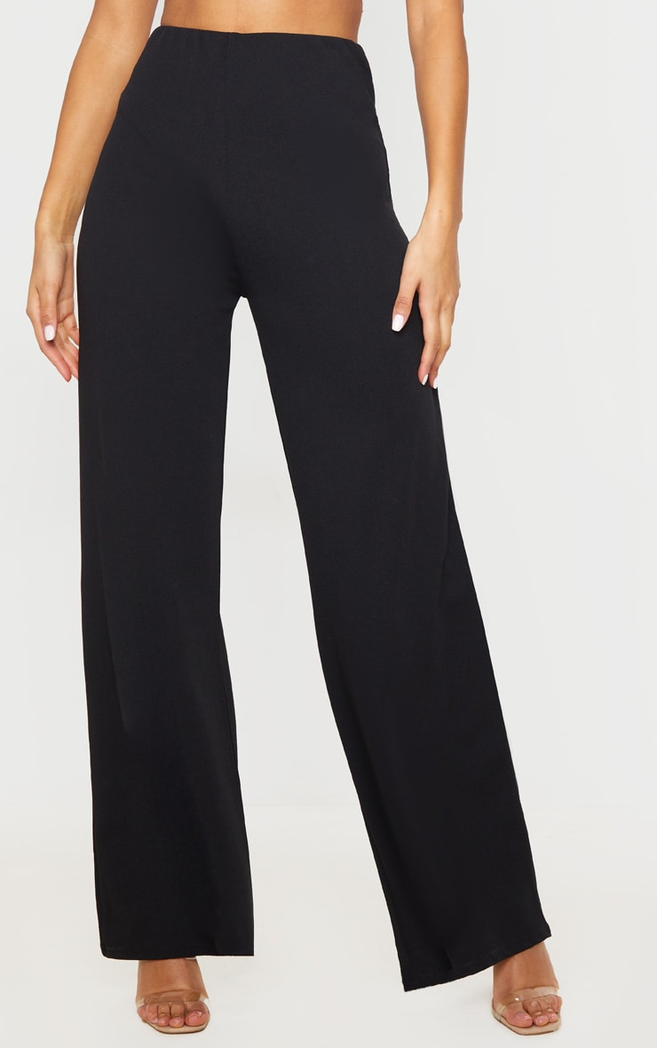 Black High Waisted Wide Leg Trousers 2