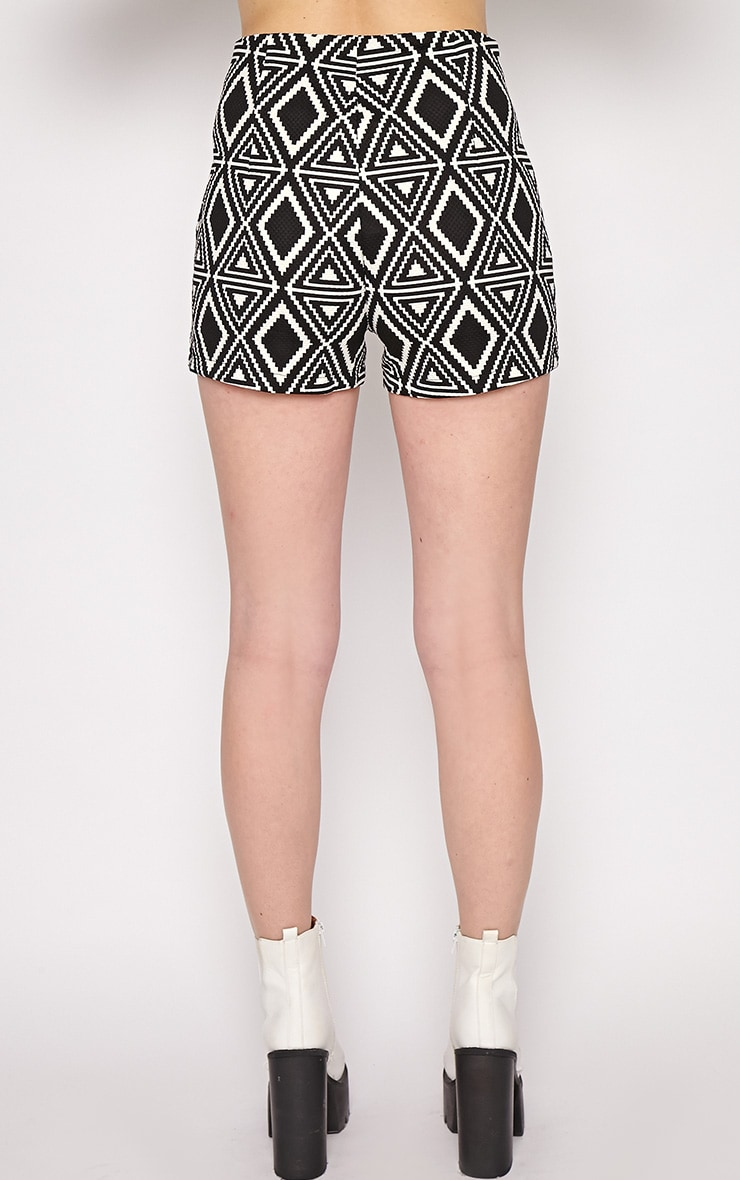 Avery Monochrome Aztec Print Shorts  2