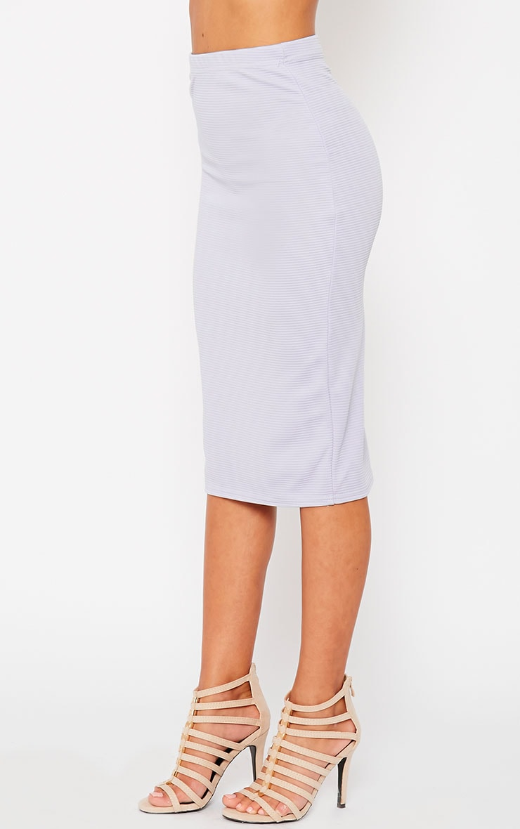 Britney Lilac Ribbed Midi Skirt 3