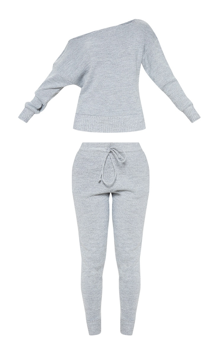 Auriel Grey Jogger Jumper Knitted Lounge Set 3