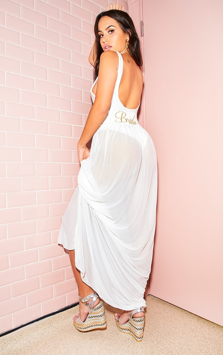 White Bride Beach Skirt