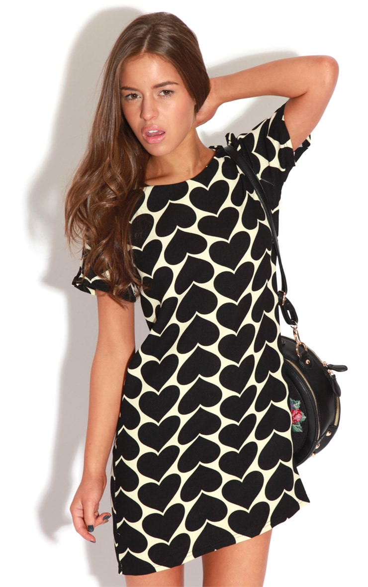 Maria Black & Cream Love Heart Dress 6