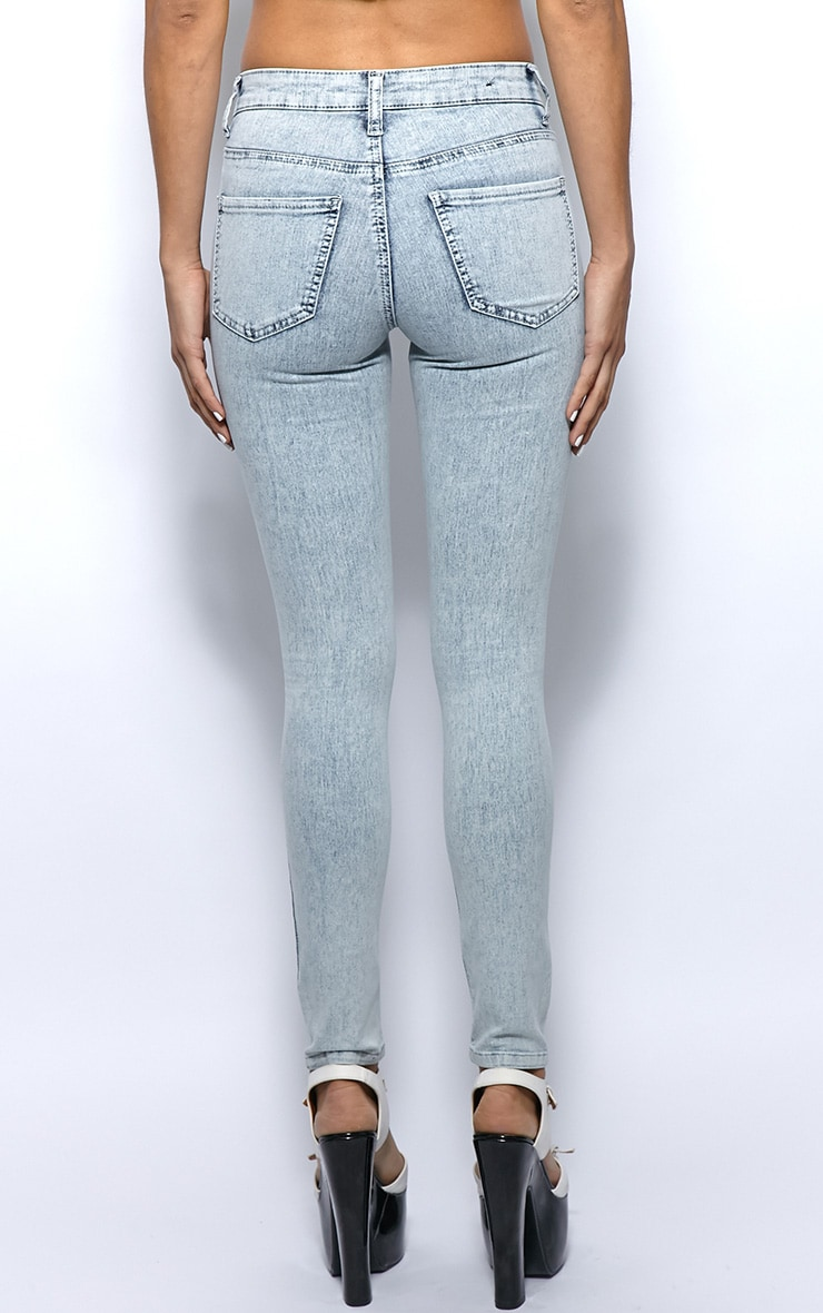 Kimmy Light Blue Ankle Grazer Skinny Jeans -6 2