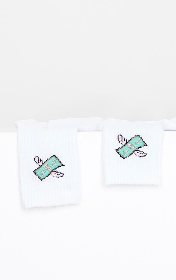 White Dollar Wing Socks 3