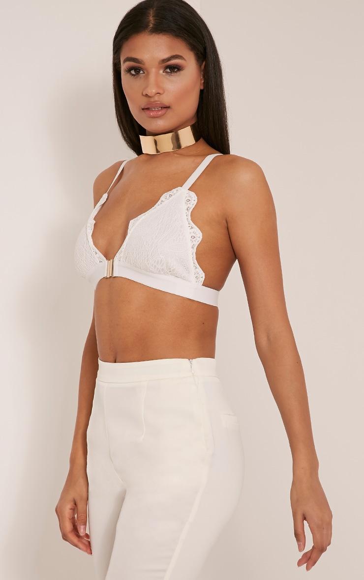 Jesika White Lace Bralet 4