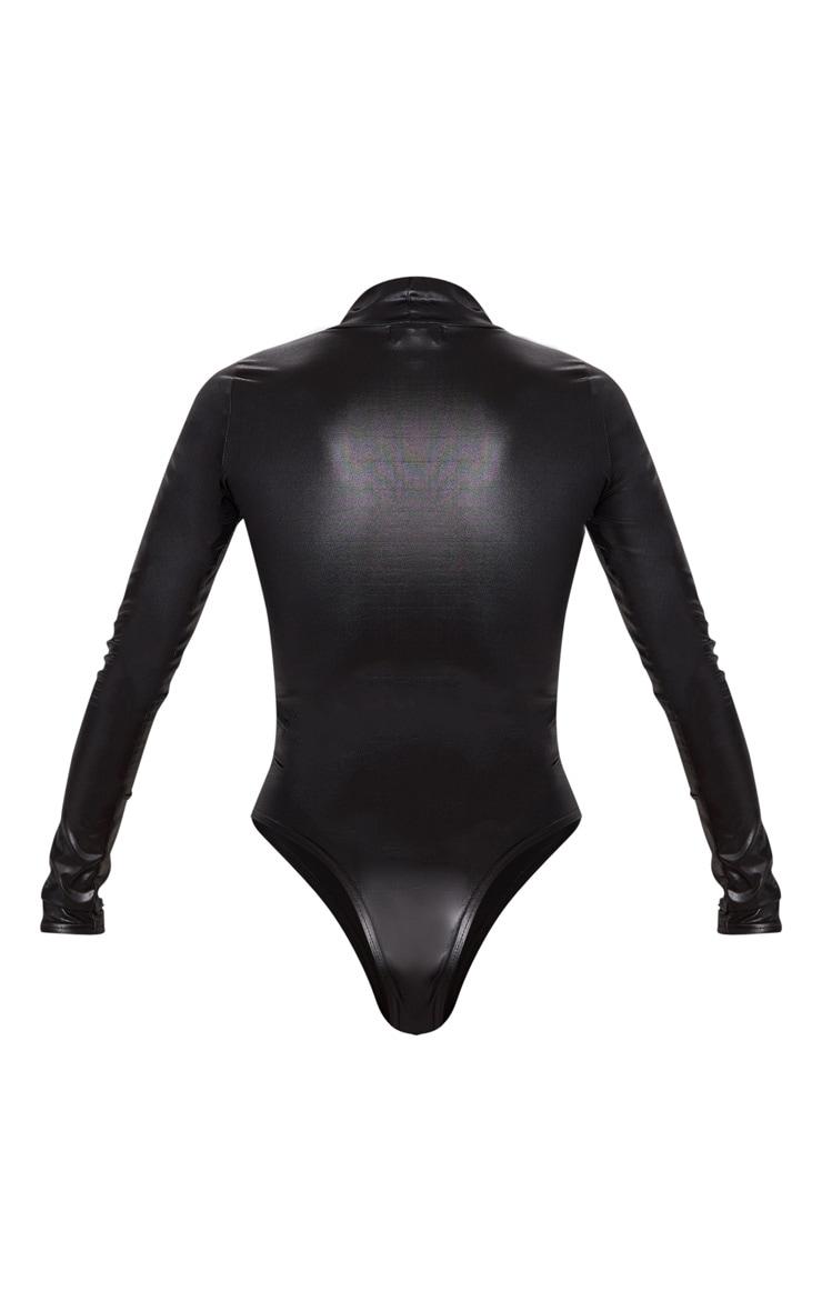Black High Shine Bodysuit 4