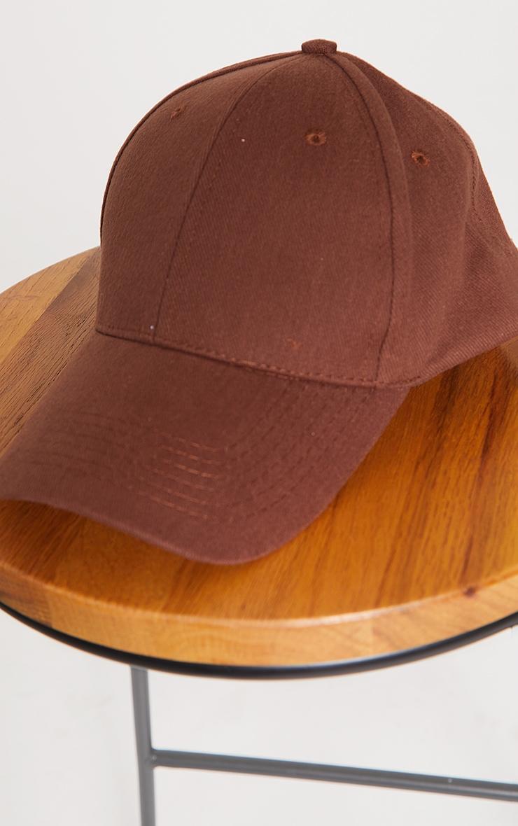 Chocolate Woven Baseball Cap 2