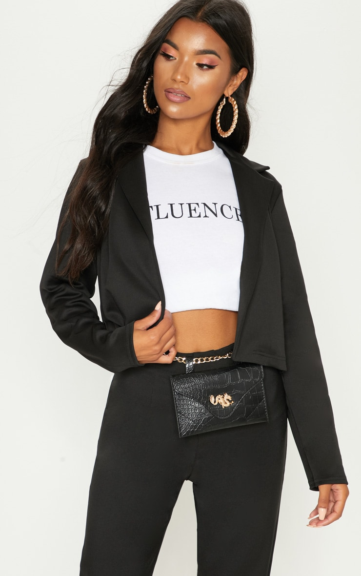 Black Crop Blazer
