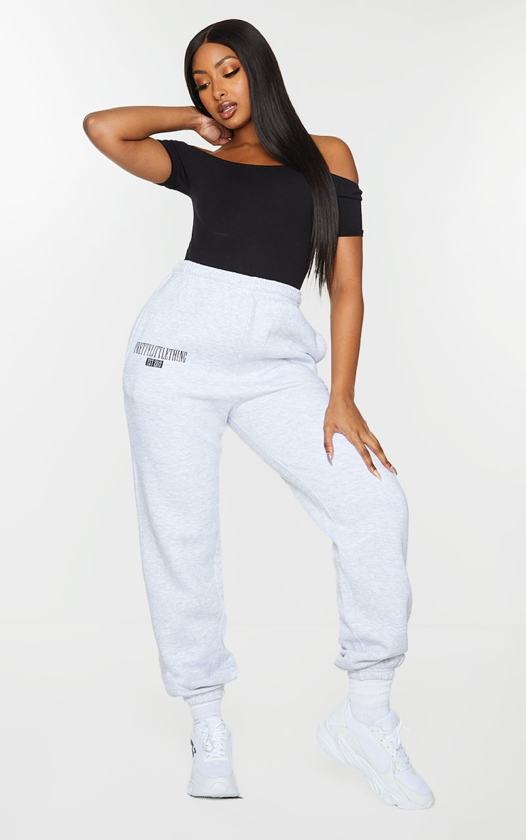 Basic Black Cotton Blend Short Sleeve Bardot Bodysuit 3