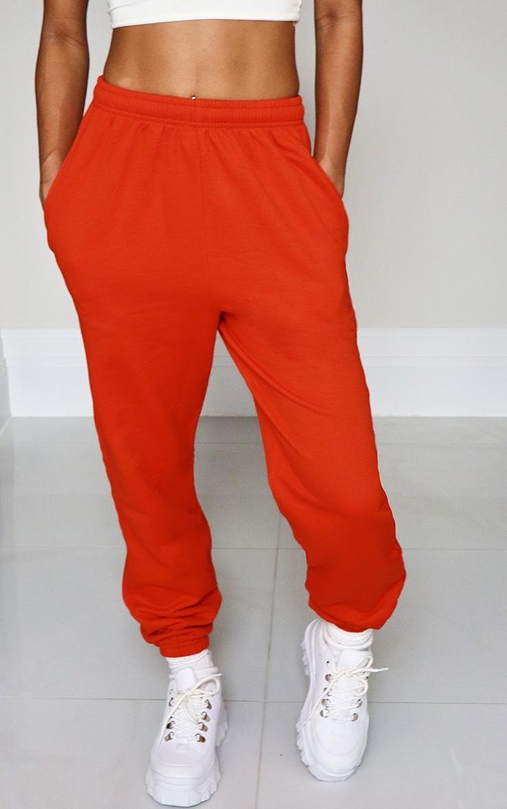 Orange Casual Joggers 2