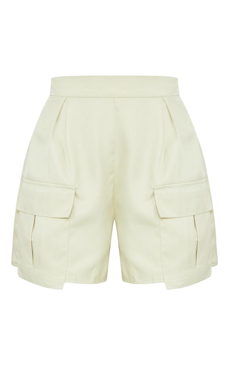 Sage Pocket Detail Cargo Shorts 6