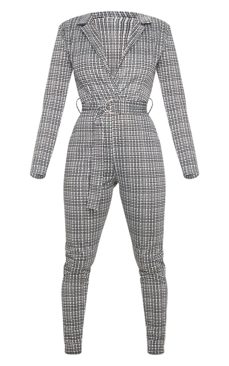 Monochrome Check D Ring Blazer Jumpsuit 3