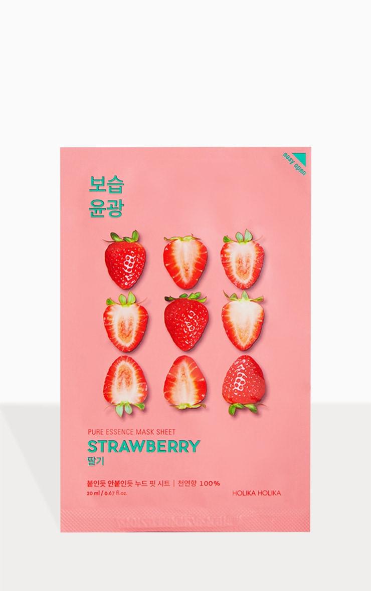 Holika Holika Pure Essence Strawberry Sheet Mask 1
