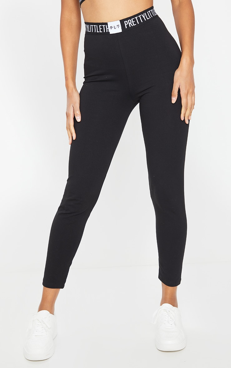 PRETTYLITTLETHING Black High Waisted Legging 2